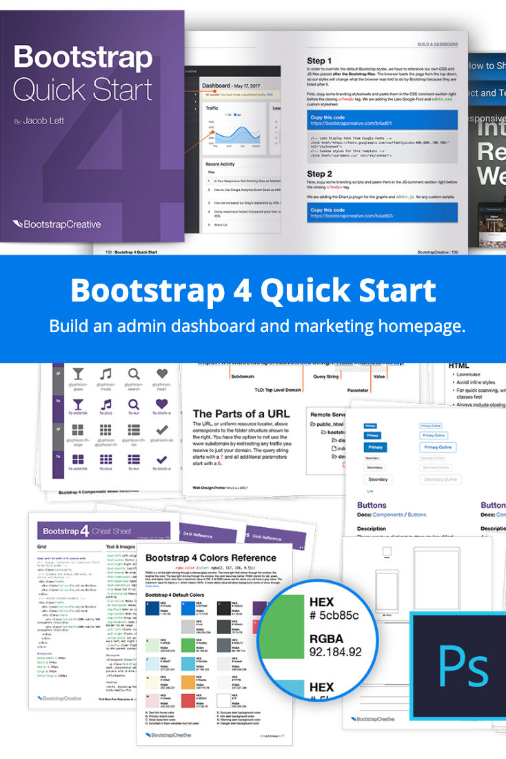 Bootstrap 4 Quick Start (eBook) Learning Responsive Web