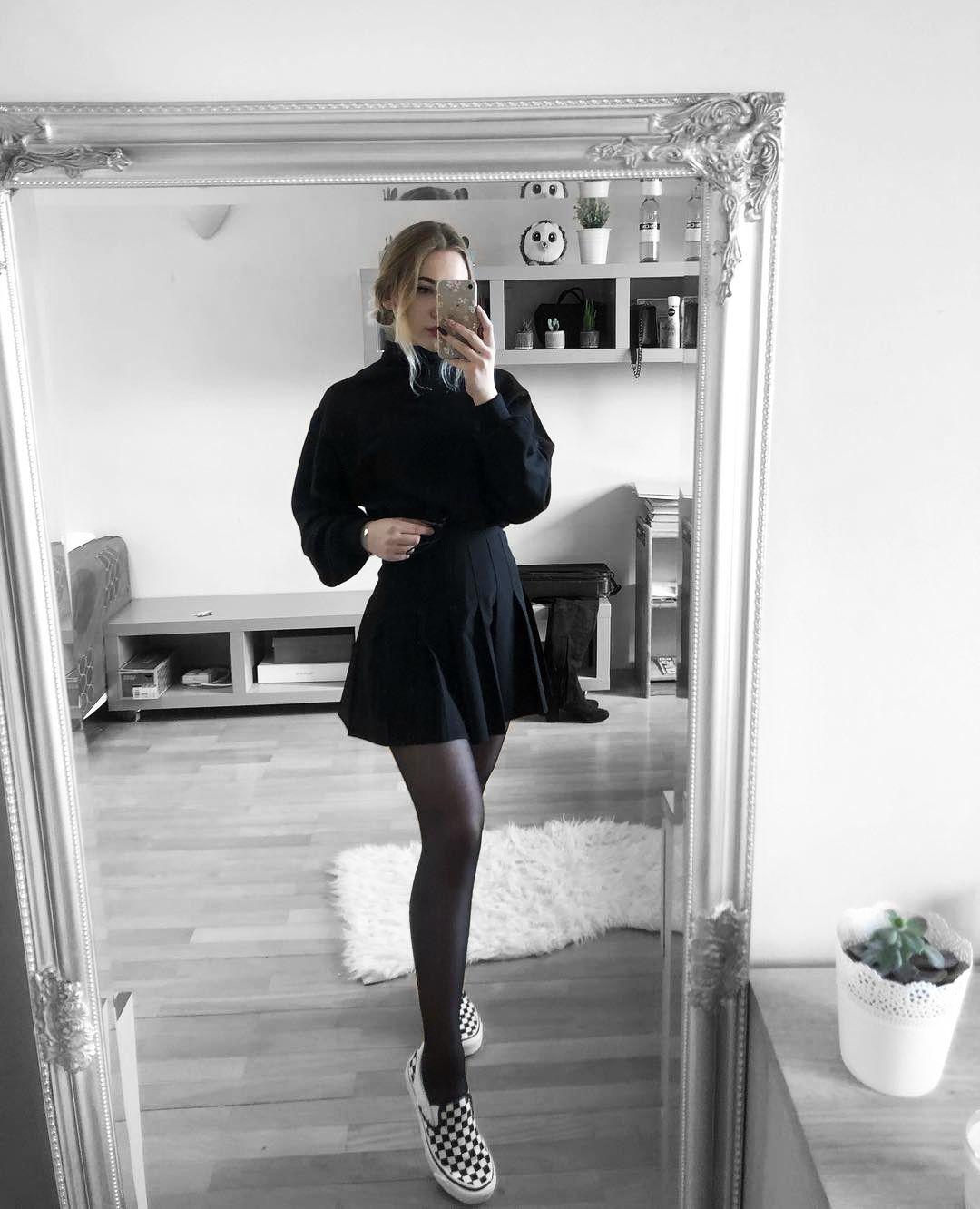 Looking Fab In Our Black Tennis Skirt Shopskydance Eu Ootd Outfit Aesthetic Inspo Tumblr The Fashion Skirt Outfits Grunge Skirt Outfit Tennis Skirt Outfit