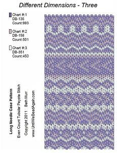 Needle Case PATTERNS - 3 geometric shapes patterns » Until We Bead Again, Beth Murr RN-CCRN Bead Artist