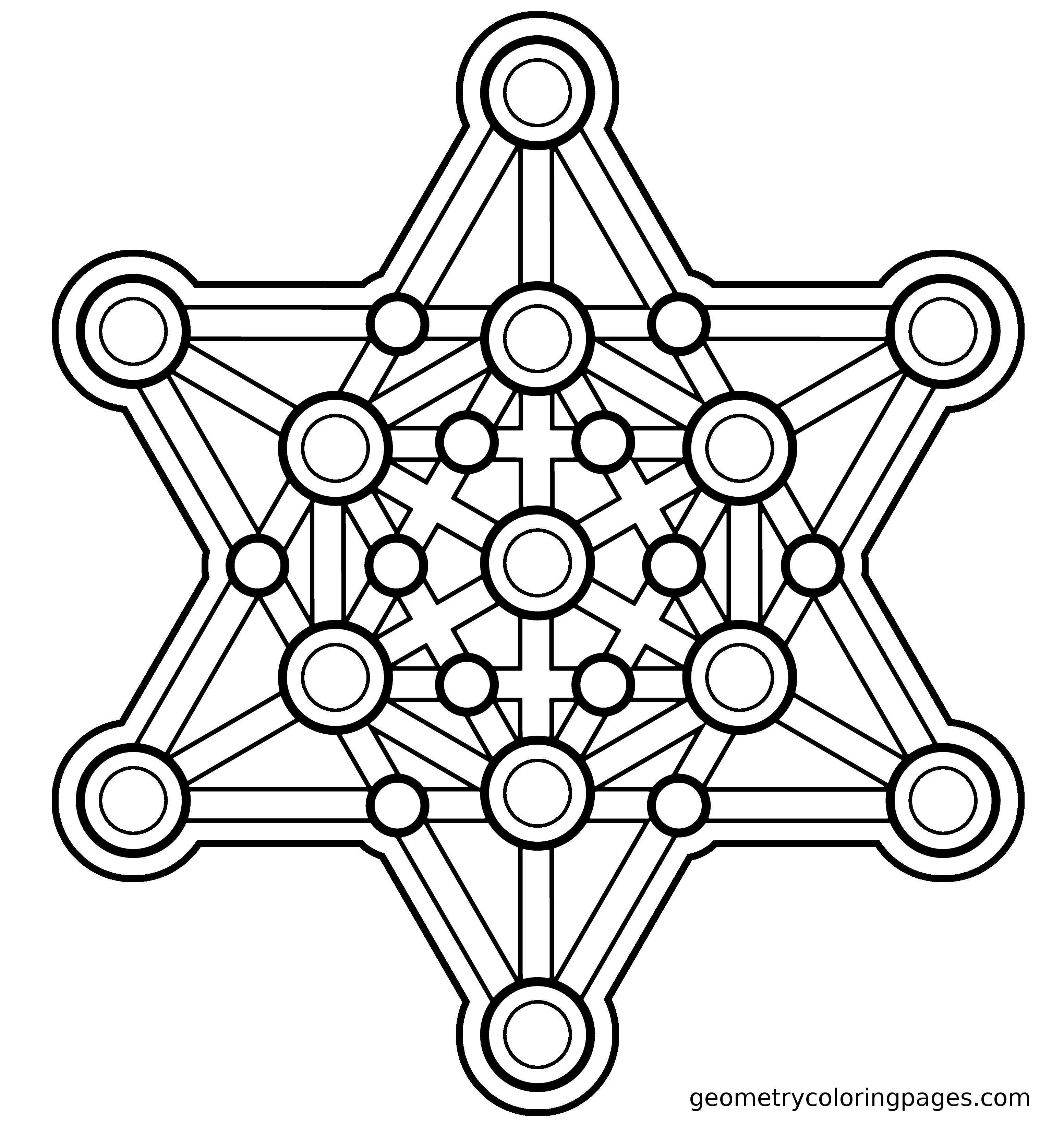 Merkaba Redux Mandala Coloring Pages Sacred Geometry Coloring Pages