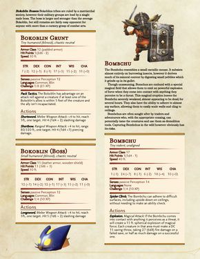 Homebrew material for 5e edition Dungeons and Dragons made by the