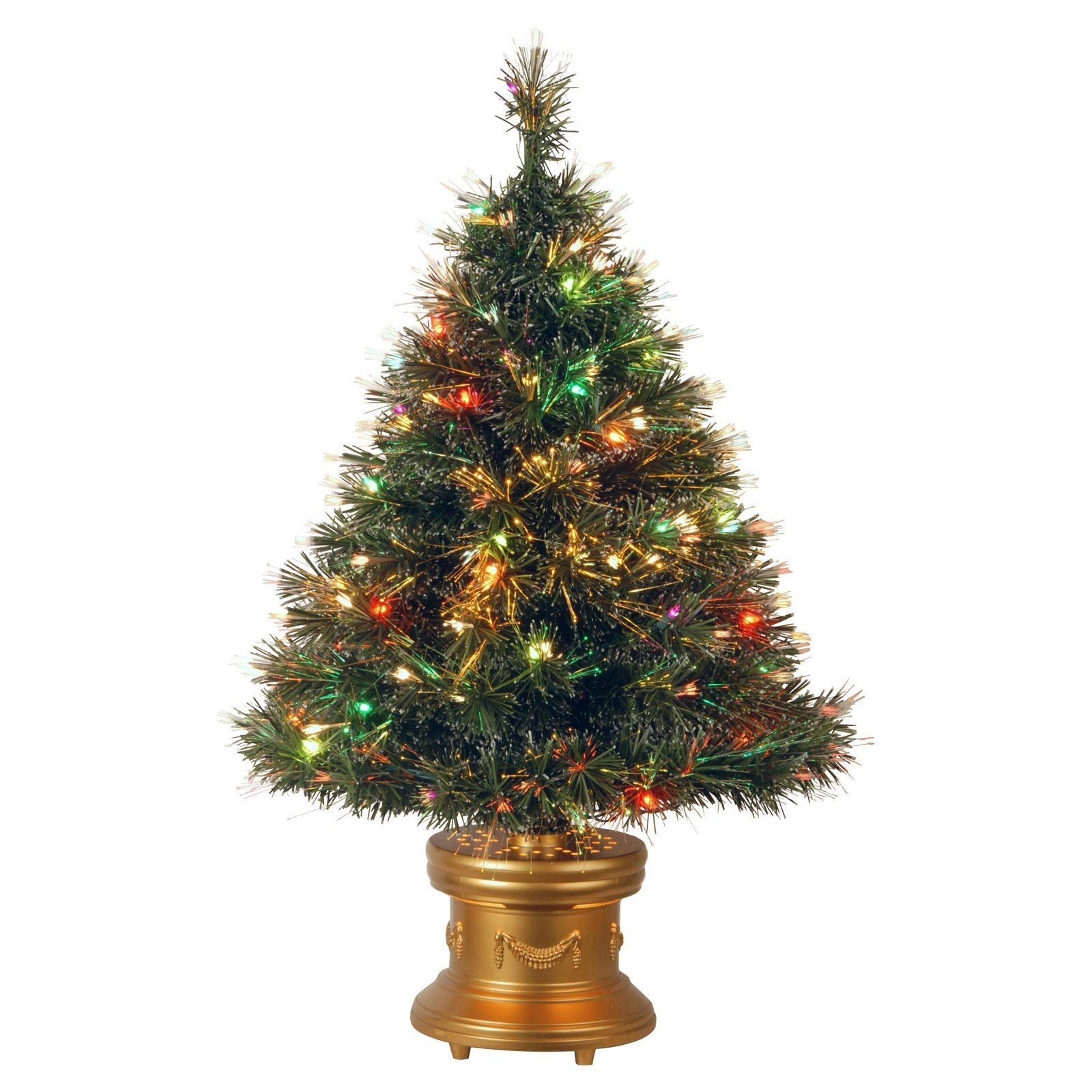Fiber Optic 2 Function Color Wheel Ice Fireworks Christmas Tree
