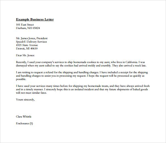 sample pdf business letters format letter free word documents - business letters format