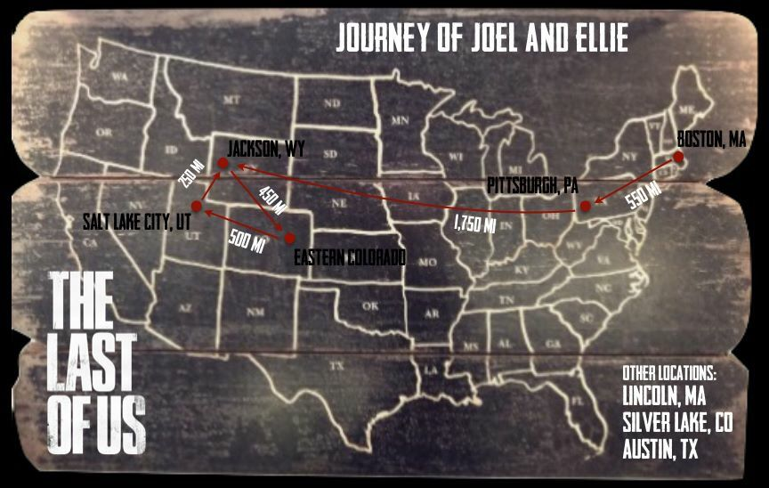 Last Of Us Journey Map Ellie & Joel's Journey | The last of us, The lest of us, The last
