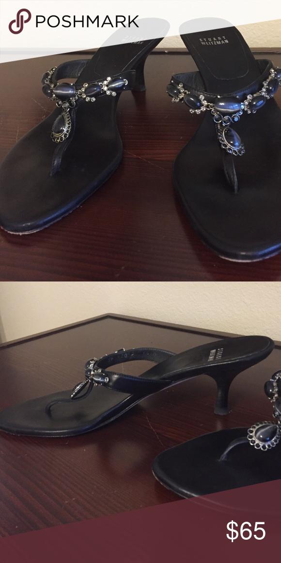 Stuart Weitzman black jeweled sandals Stuart Weitzman black jeweled sandals. Size 9.5m Stuart Weitzman Shoes Sandals