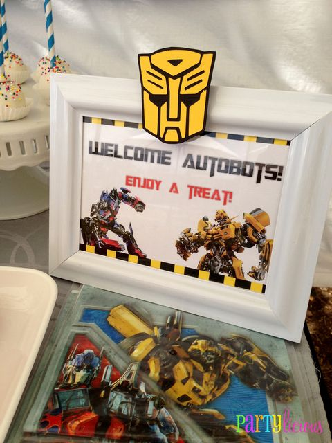 Transformers Party Food Sign