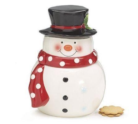 Snowman Cookie Jar by Burton &