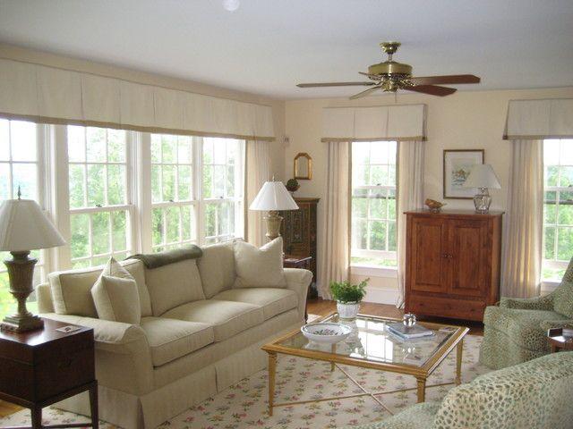 Merveilleux Transitional Living Room Window Treatments