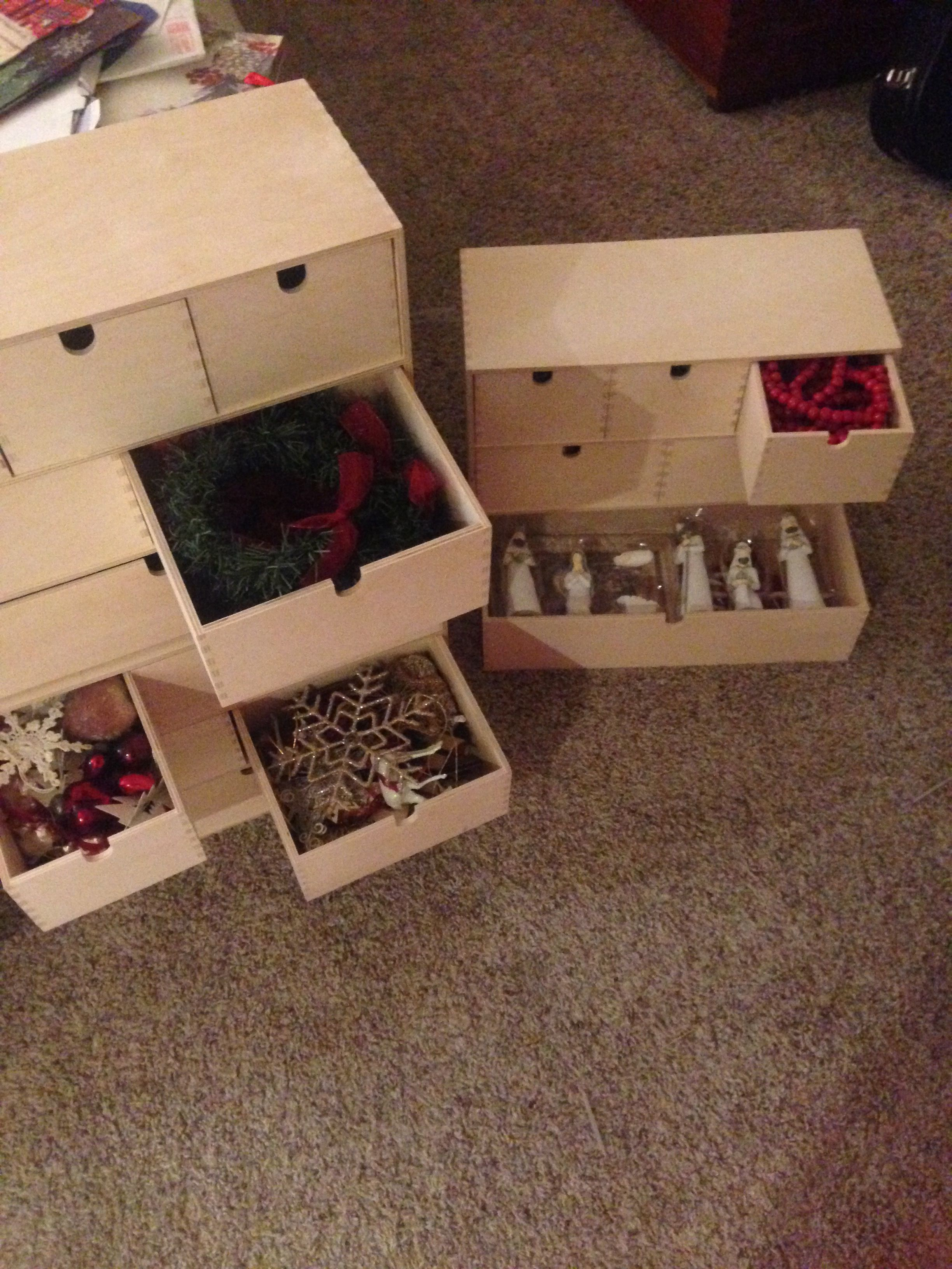 Ikea Small Storage For Christmas Ornaments Christmas Organization Small Storage Christmas