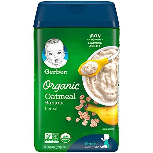 Gerber Baby Cereal Organic Rice Cereal, 8 Ounce
