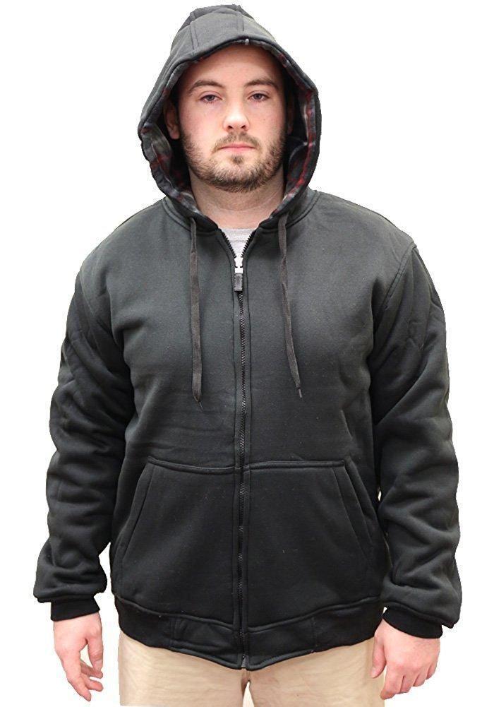 Mens Reversible Fleece Zip-Up Hoodie Woodland Supply Co