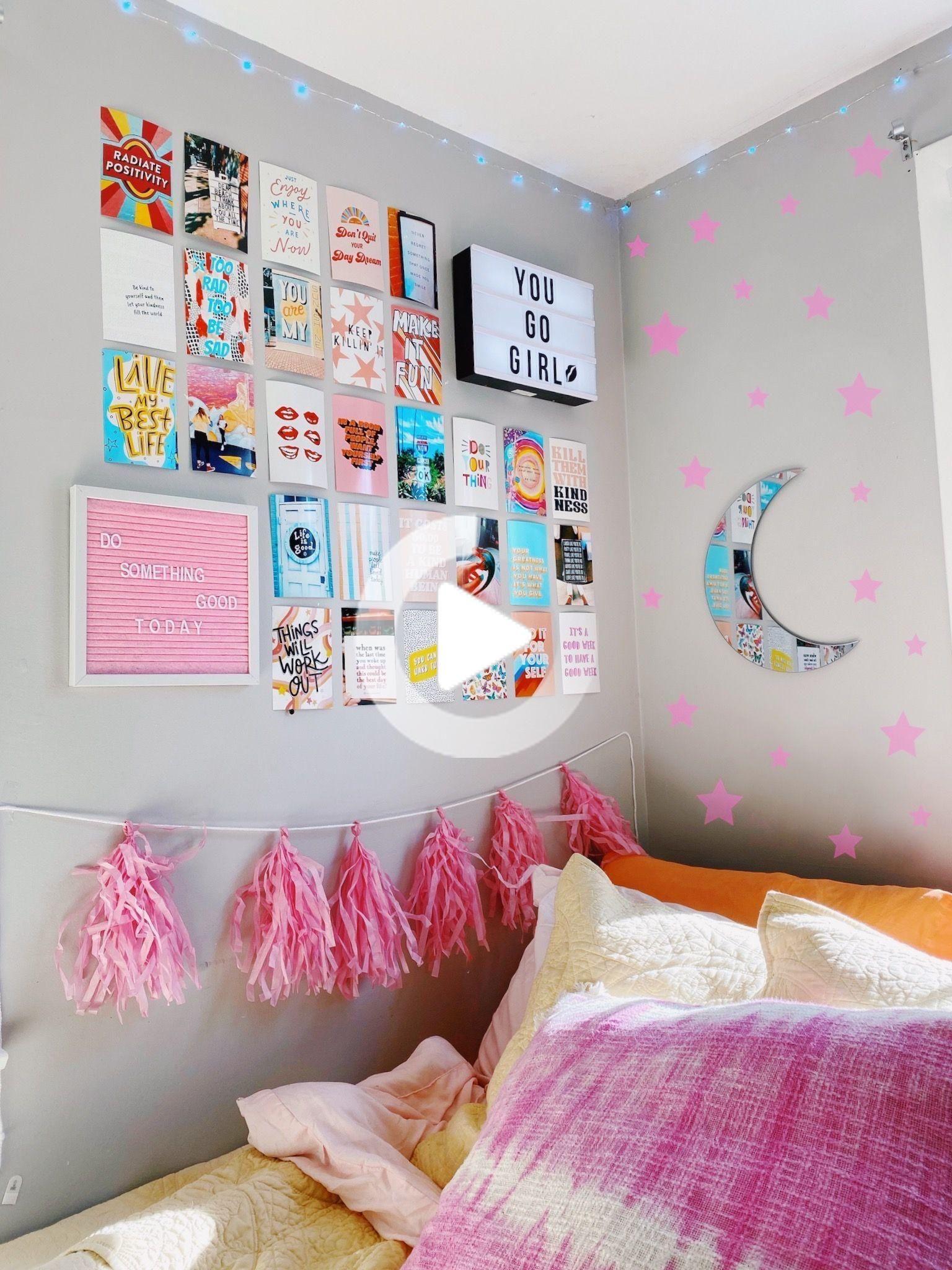 caitysprints on etsy!! { #bedroom #vsco #roomgoals #dorm #dormroom #wallart #walldecor #etsyshop #summer #positivevibes } #bedroomideas #smallbedroom