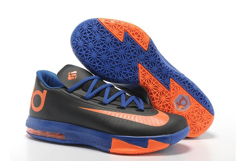 Nike KD VI 6 black orange Kevin Durant Basketball shoes
