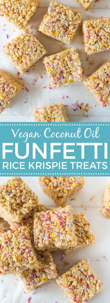 Funfetti Rice Krispie Treats (Vegan)