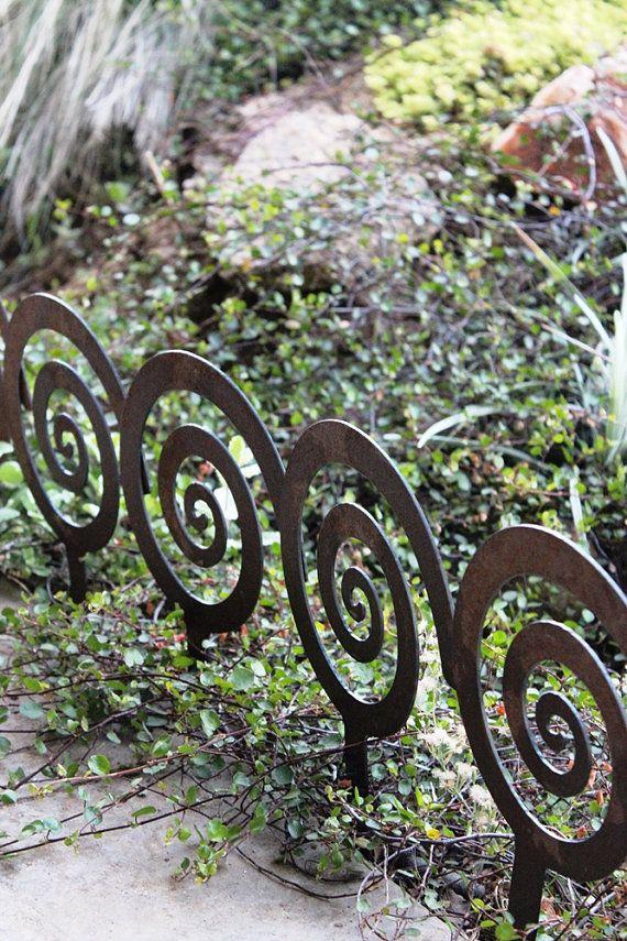 7 Spiral Garden Stake Steel Garden Decor Planter Edge Garden