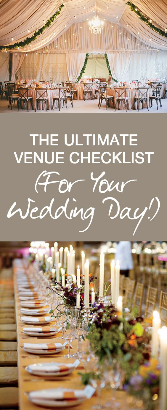 The Ultimate Venue Checklist For Your Wedding Day One Day