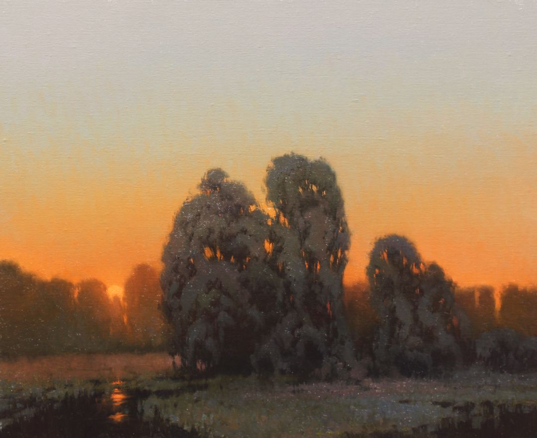 Evening Reflections Oil Kevin Courter Paisajes Pinturas Artistas