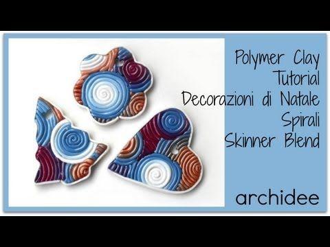 Tutorial | Polymer Clay | Decorazioni con spirali Skinner Blend | Fiocco di Neve Multicolor | DIY