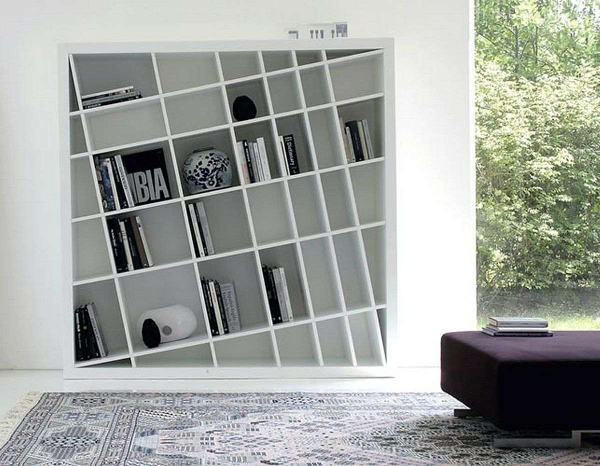 Elegant Modern Bookcase Unique Design | Design-Shelving in ...