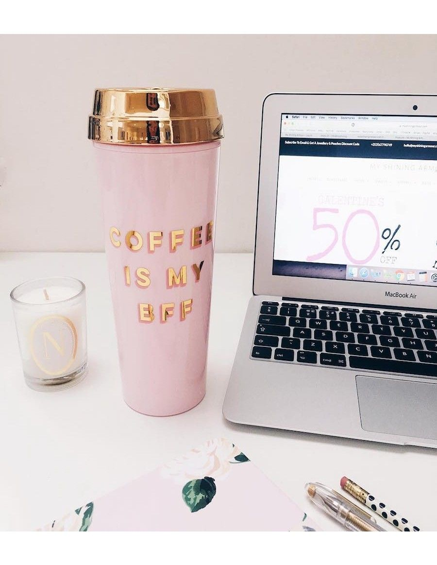 Coffee Is My Bff Thermal Travel Mug By Bando