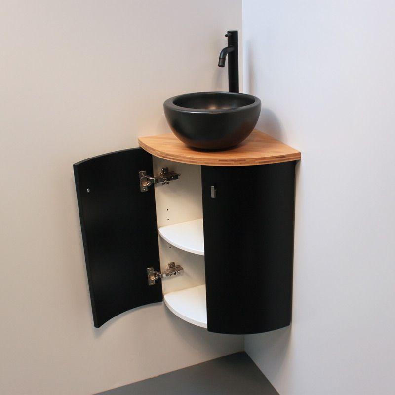 Petit Meuble Pratique Pour Toilettes Deco Toilettes Lave Main Angle Amenagement Toilettes