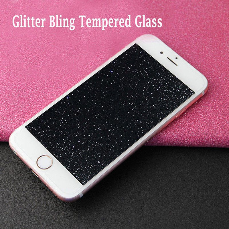 new concept 4f363 f81ef $2.13 - Diamond Glitter Screen Tempered Glass Film For Iphone X 8 ...