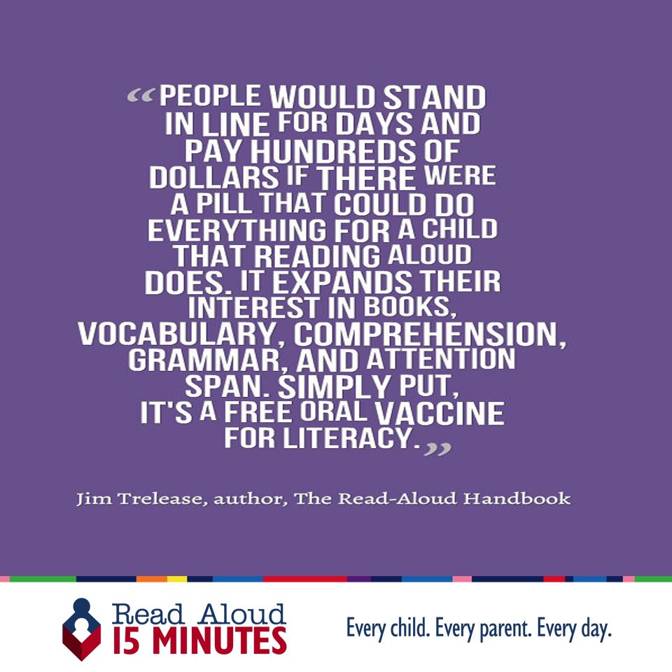 Wise words from jim trelease author the read aloud handbook read wise words from jim trelease author the read aloud handbook read aloud every day starting at birth for at least 15 minutes fandeluxe Image collections