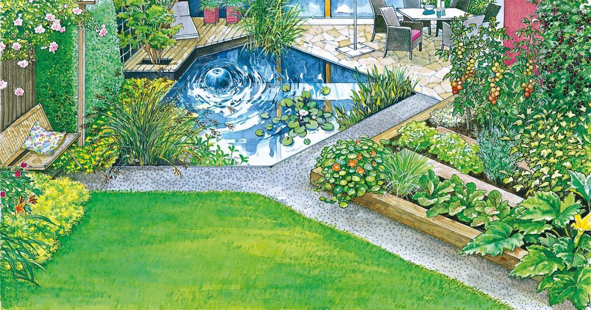 Terrasse Im Blickpunkt Reihenhausgarten Garten Gartengestaltung