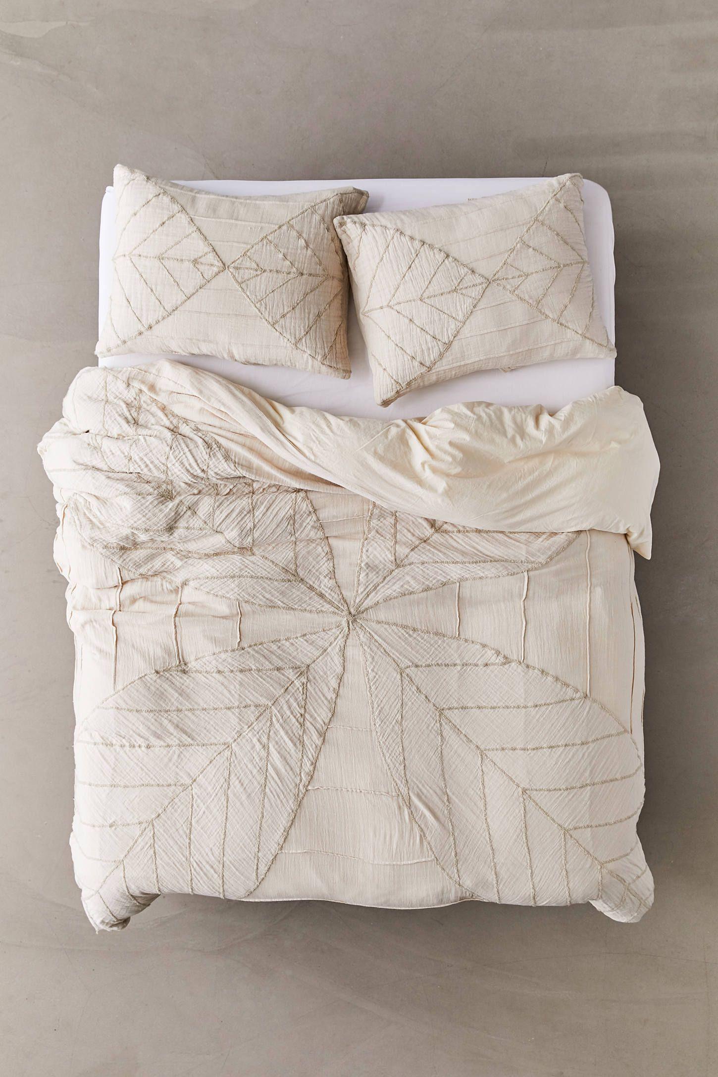 Petal Embroidered Gauze Duvet Cover Duvet Covers Duvet Covers