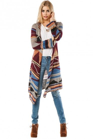 LOVE this long cardigan for Fall!!! It never gets that cold where ...