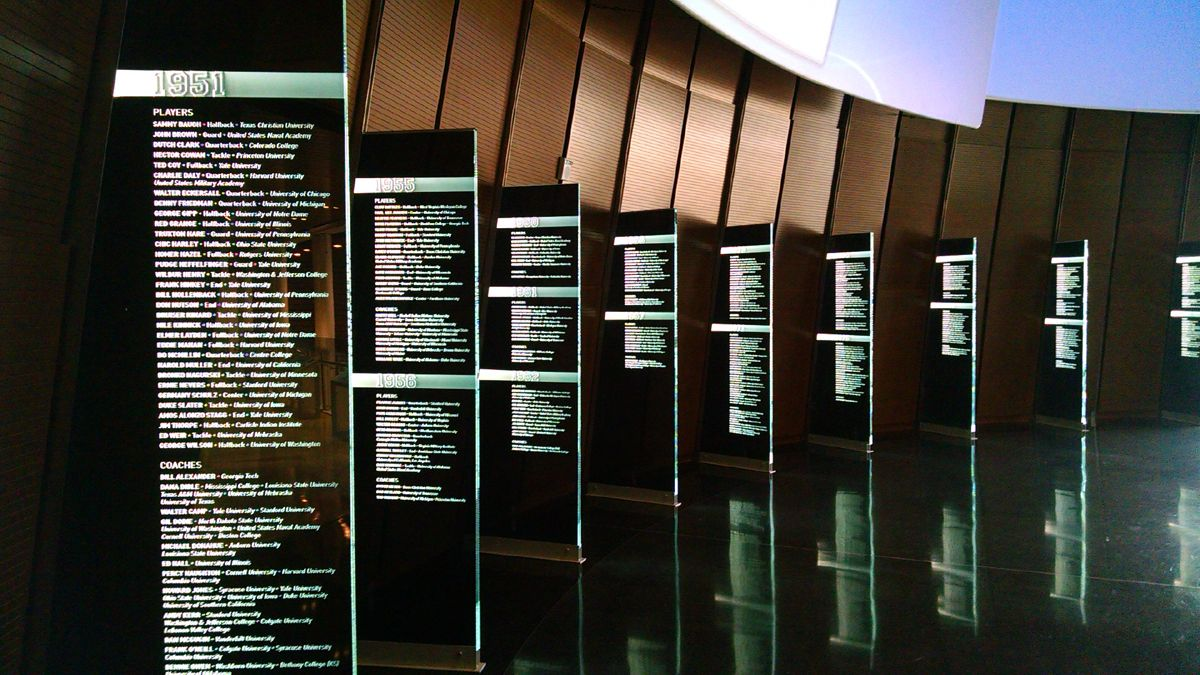 Ncaa College Football Hall Of Fame In 2020 Donor Recognition