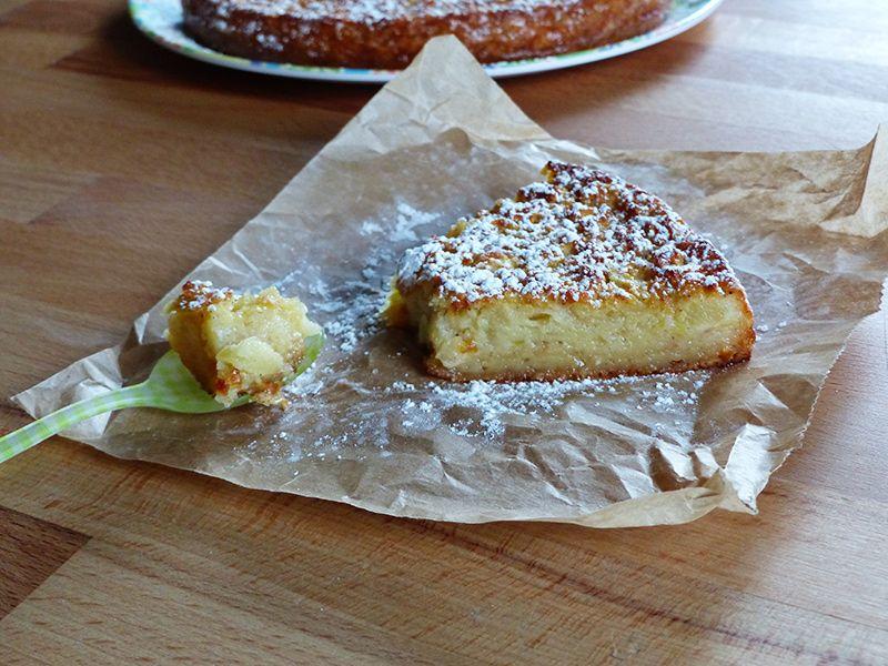 Pastel cremoso y ligero de manzana - Hierbas y especias