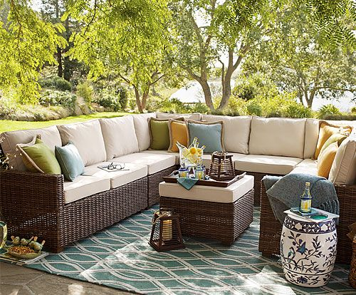 Echo Beach Sectional Seating Outdoor Pier One X New Apartment Furniture