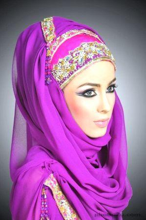 لفات حجاب بالصور طريقة اجمل لفات الحجاب Head And Neck Veil Color