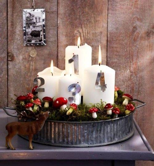 Adventskranz selber basteln 4 einfache anleitungen mit for Weihnachtsideen dekoration