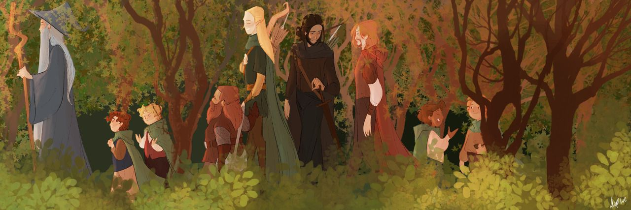 Братство Кольца Lord of the rings, The hobbit, Tolkien