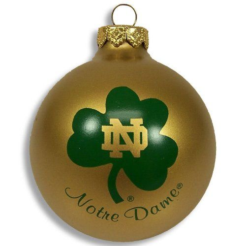 Notre Dame Fighting Irish Christmas Ornament | Cool Notre Dame Fan ...