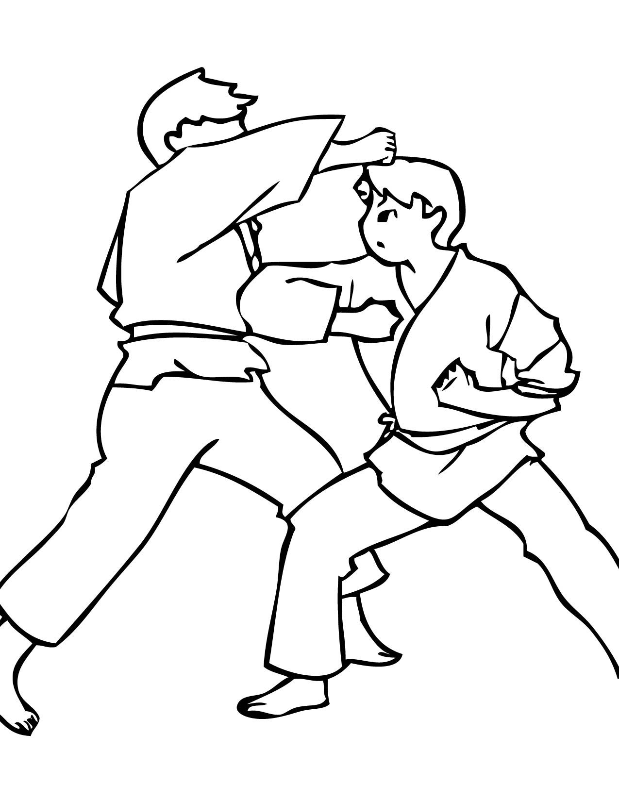 Color Karate Coloring Pages Sports Coloring Pages Free Coloring Pages