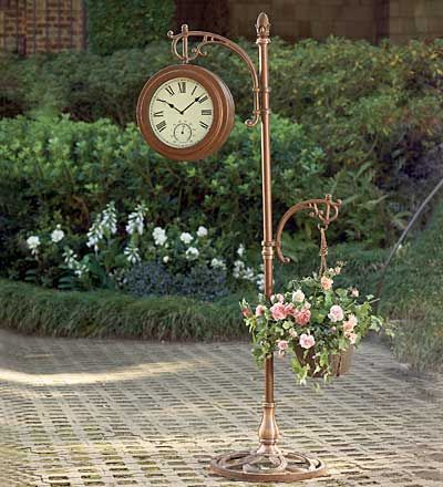 Marvelous Double Sided Cast Iron And Metal Floor Clock