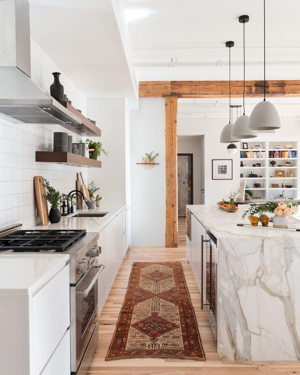 A Stunning Industrial Loft In Soho Apartment Kitchen Loft