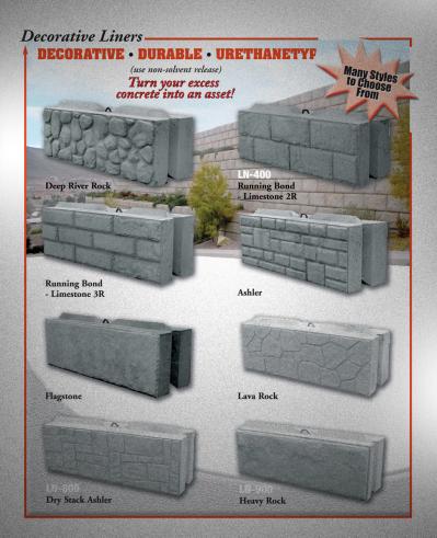 Leonard Marr Inc Block Forms Decorative Concrete Walls Concrete Decor Concrete Wall