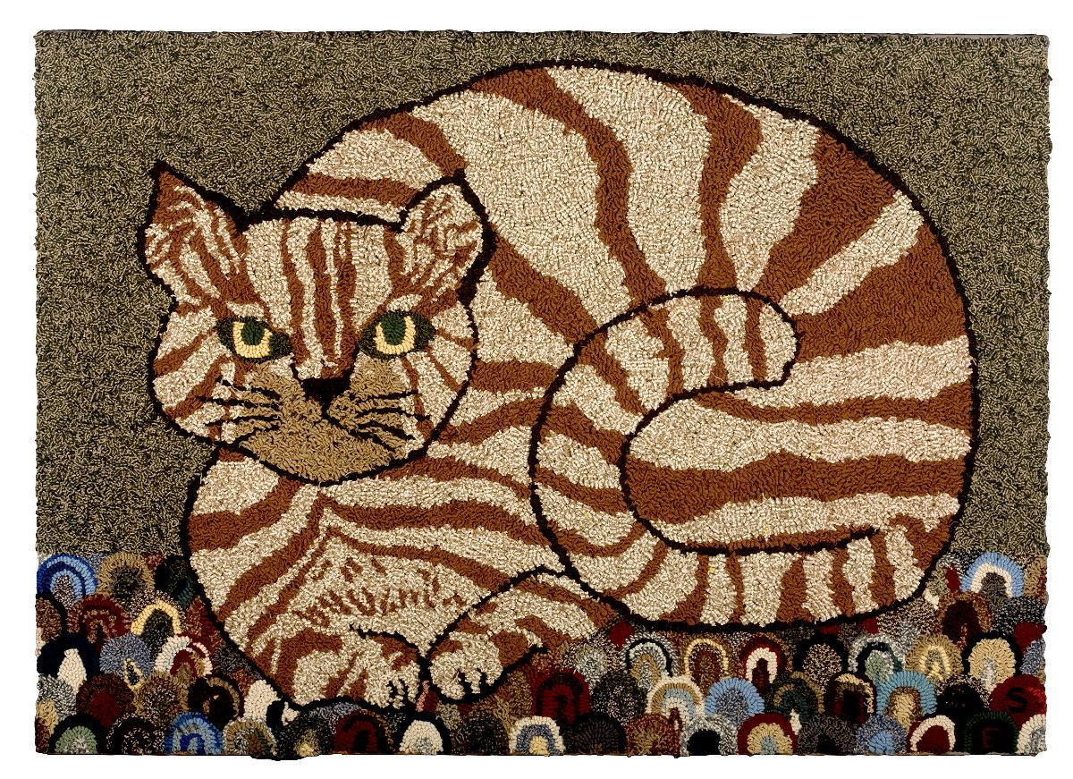 20th Century Hooked Rug Sold For 555750 4750k Mounted