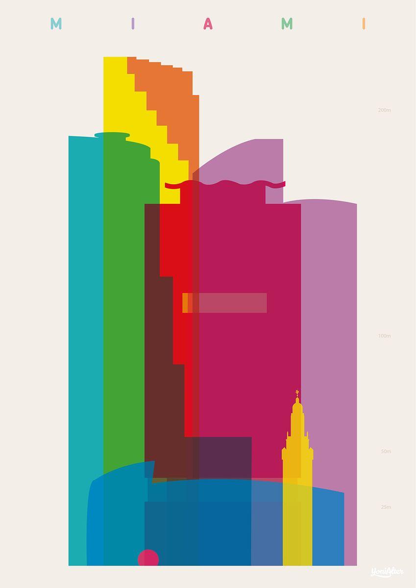 Yoni Alter. Original graphic art. Shapes of Miami | Life Art | Pinterest