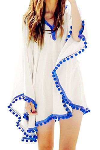 123402c4f7519 Womens Swimwear Beachwear Bikini Beach Wear Cover up Kaftan Summer Shirt  Dress Advgears