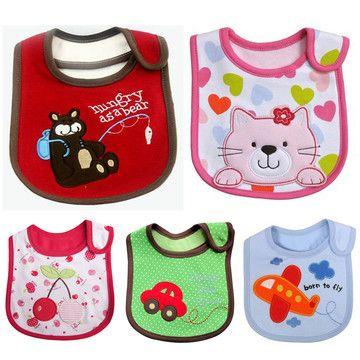 1pc New cotton waterproof Baby Boys Girls Kids Children Bibs Saliva Burp Apron