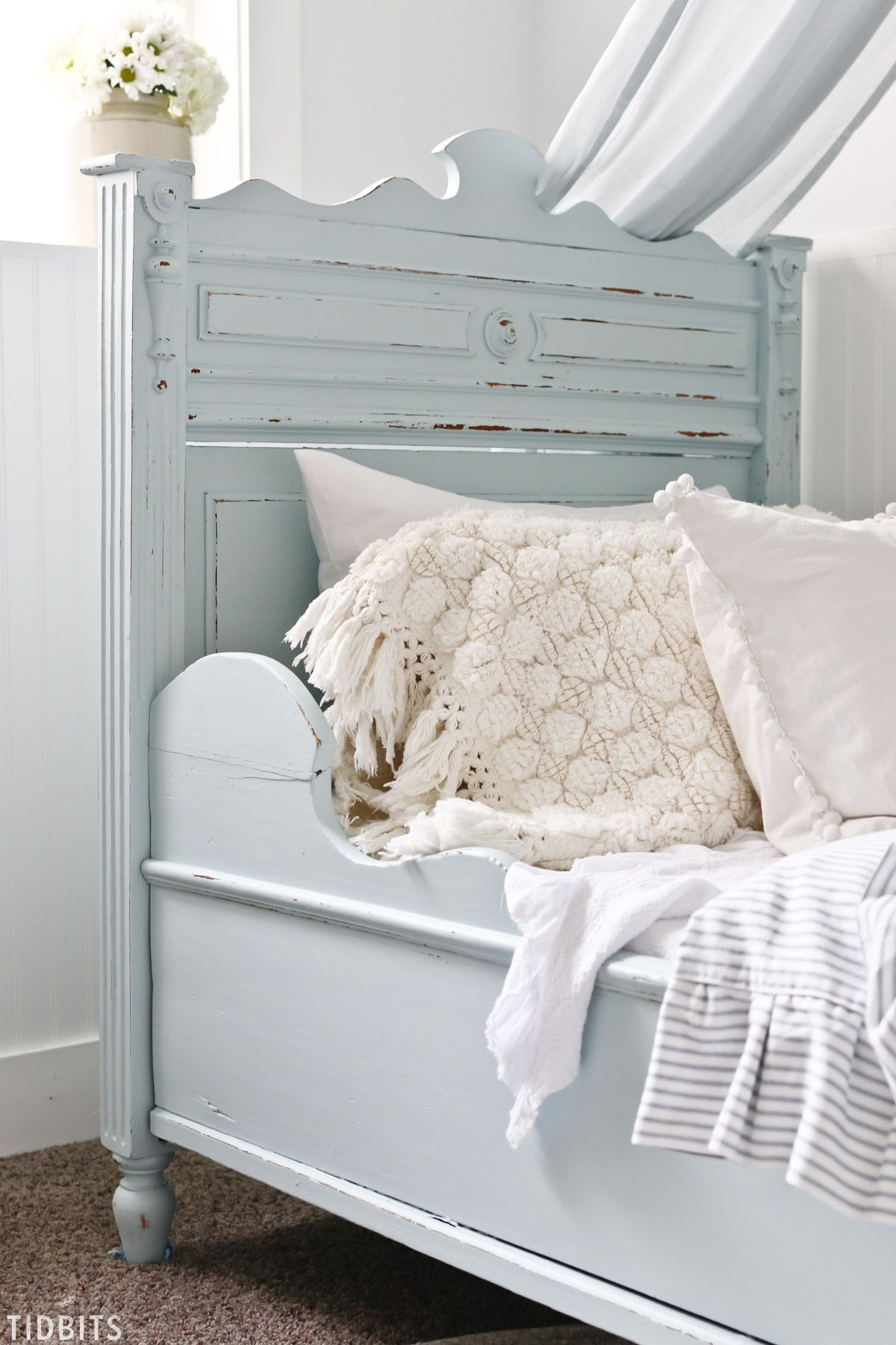 Diy Painted Antique German Sleigh Bed Painted Bedroom Furniture