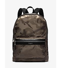 8fcdda5e1a67 Kent Camouflage Nylon Jacquard Backpack by Michael Kors