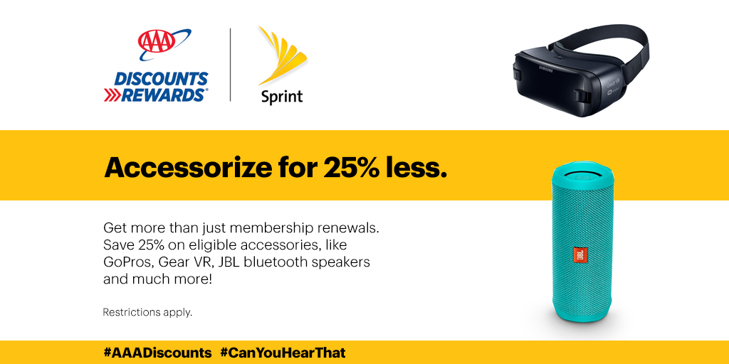 Sure, you get your next renewal paid for by Sprint and AAA