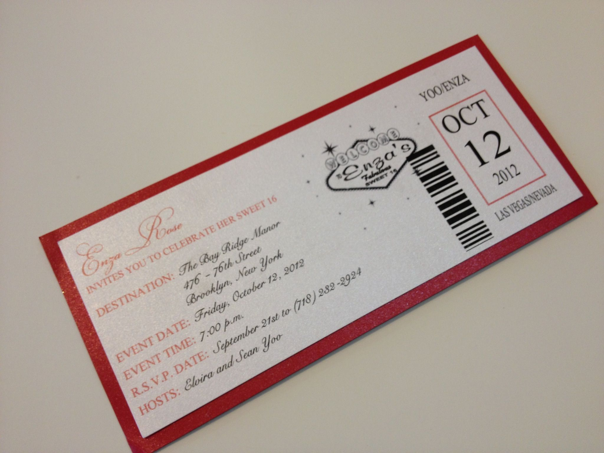 Casino themed sweet 16 invitations best time to play poker at a casino