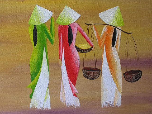 Women In Arts Vietnamese Ao Dai Women In Arts In 2019 Painting